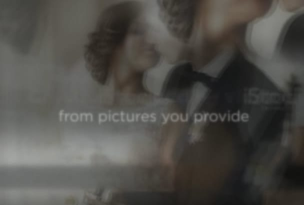 create this wedding video or any from pictures you provide