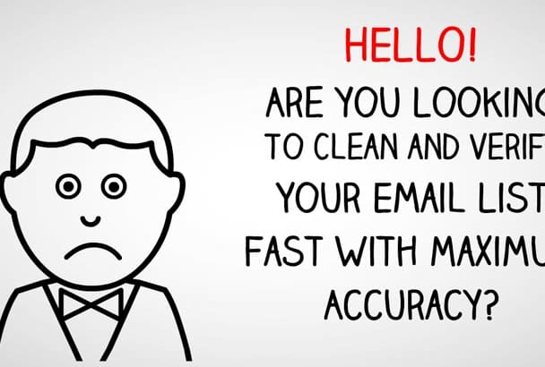 professionally clean, remove bounce and verify 100K Emails in Just One Day