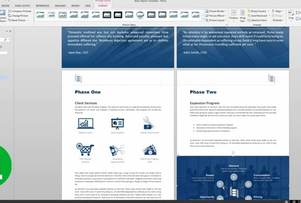 provide a basic Microsoft Word TEMPLATE