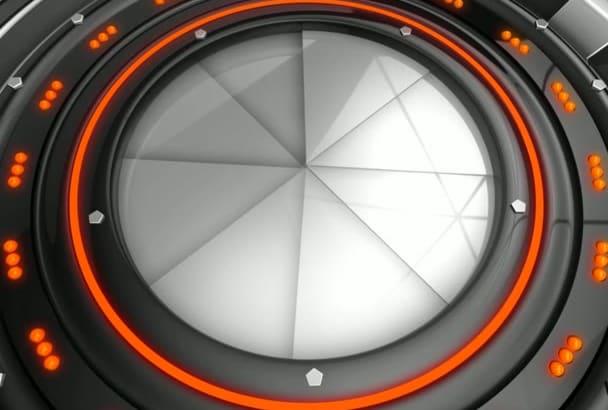 create Sci Fi intro animation video