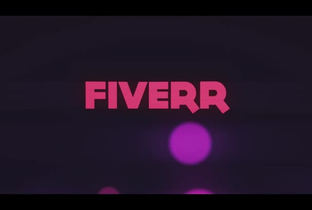 create a neon intro for your youtube channel