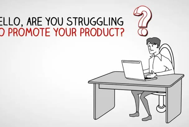 promote business, product, service with whiteboard animation