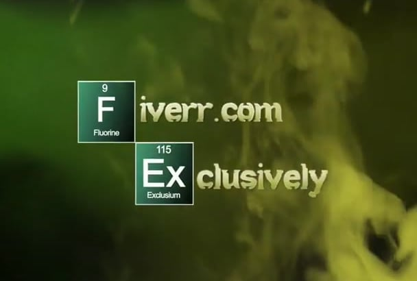 make you a Breaking Bad Style Intro