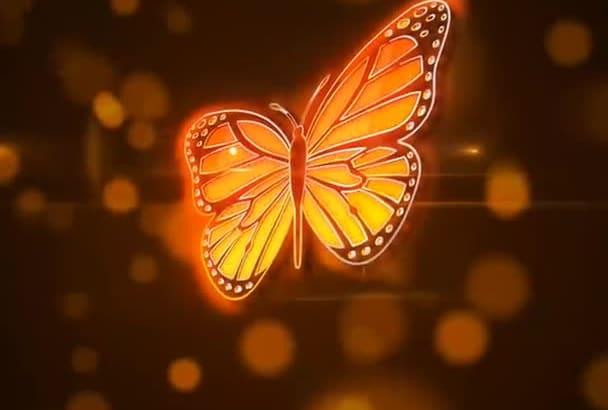 create amazing logo opener with butterflies