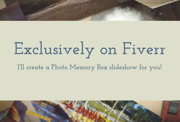 create a Photo Memory Slideshow Presentation