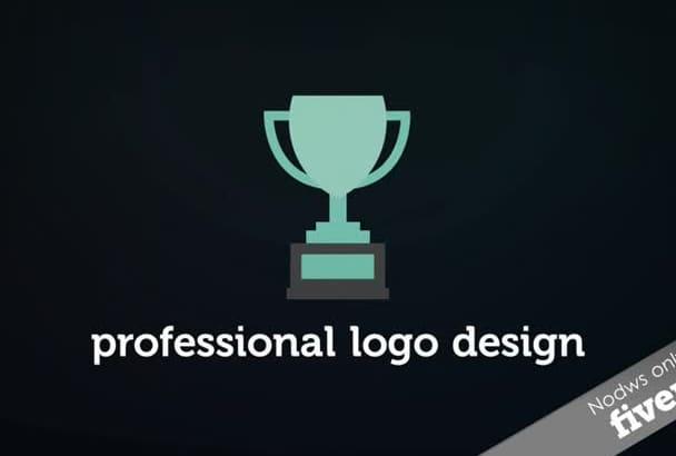 create a Professional logo in flat design