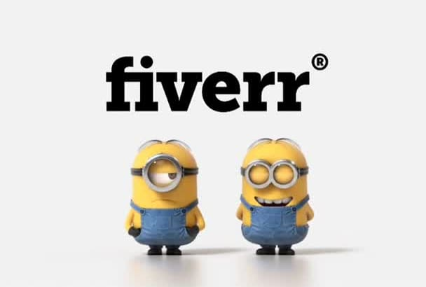 add your logo in funny minion fart video