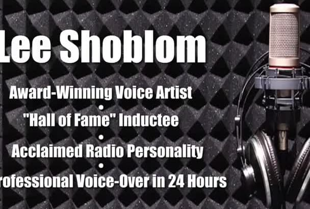 record a voiceover in 24 hours, Hall of Fame inductee