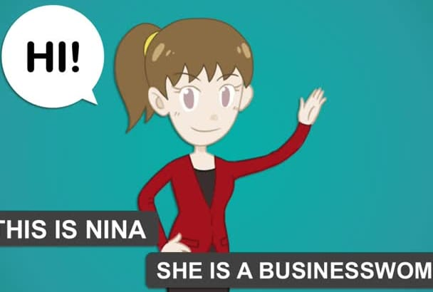 create professional animated video for your product or business