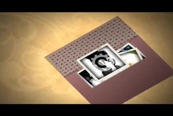 create album YouTube INTRO Animation Video with Logo , Pics