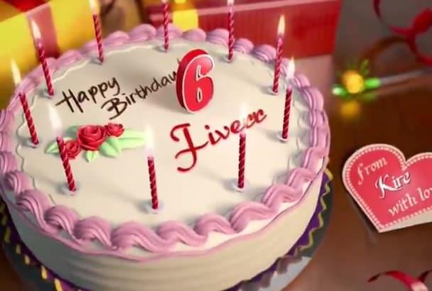 make a Happy Birthday Animation