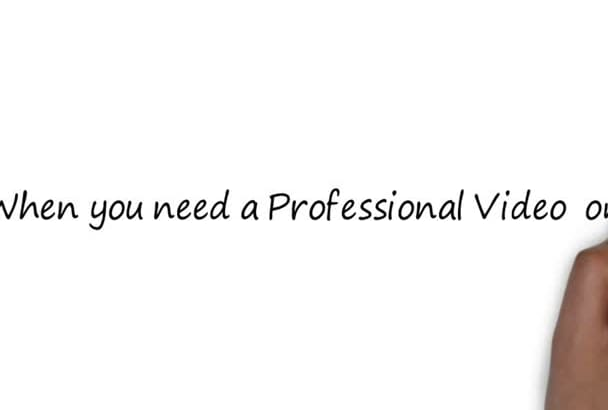 create an amazing WHITEBOARD animation video free voice over