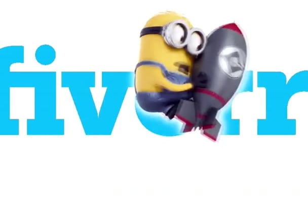 make minion jump in front of your logo and advert it