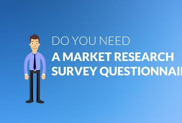 create market research survey questionnaire