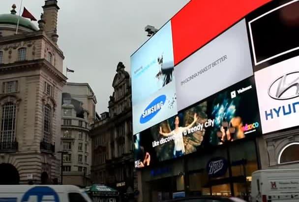 add anything to Piccadilly Circus billboard