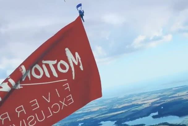 skydive with your Flag
