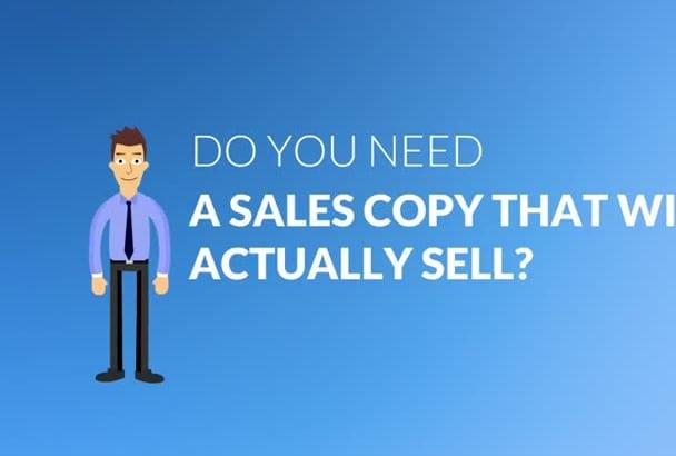 write CAPTIVATING sales copy