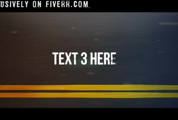 create a speed trailer video intro