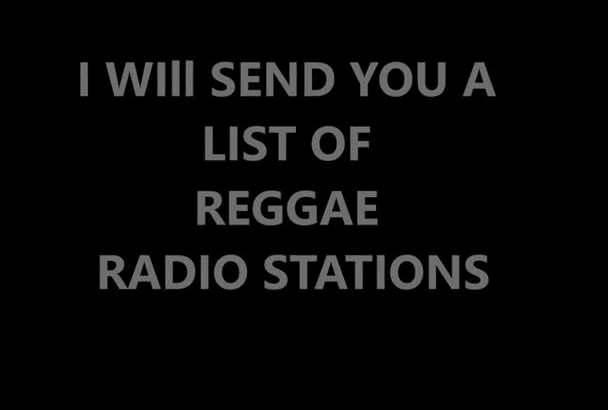 give you a list of Reggae Stations that will play your music