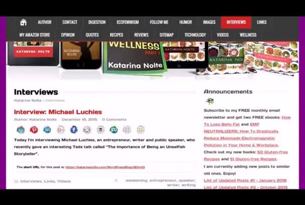 interview you and publish the interview