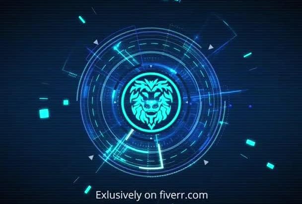 design animated hi tech logo reveal