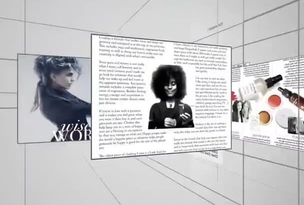 create stylish video magazine