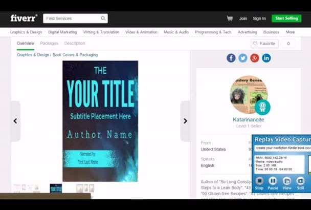 create your nonfiction Kindle book cover for you