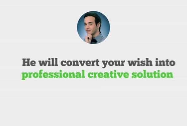 create AMAZING fiverr seller promo video