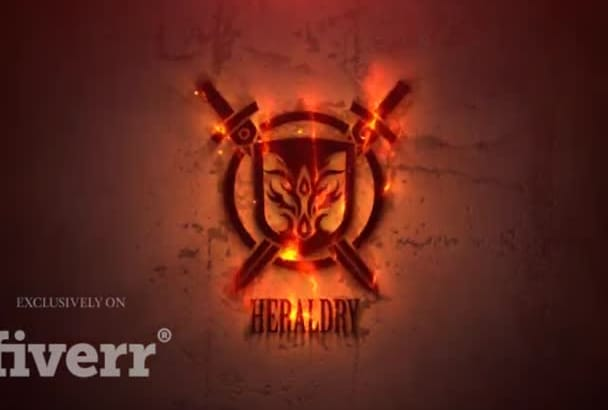 do amazing firey logo reveal intro