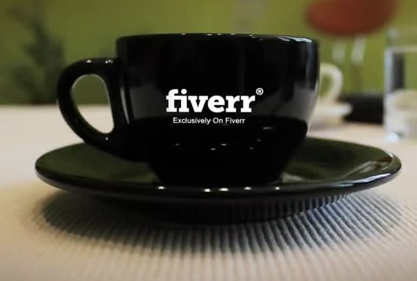 create Clean High Quality Coffee Cup Promo Video