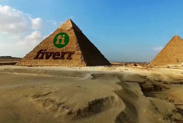 carve your Logo into the Pyramids of Egypt