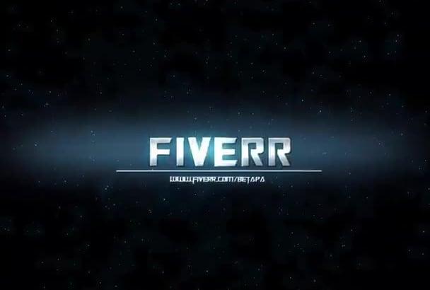 design TRANSFORMER logo intro video