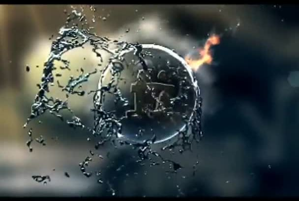 create 2 amazing fire water logo in 5