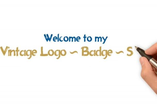 design vintage stamp, badge or logo