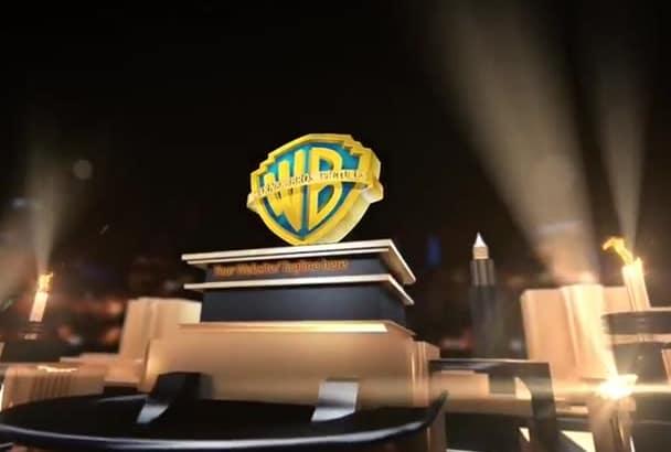 do hollywood style movie studio logo intro