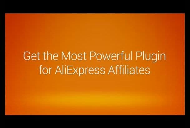 build turnkey AliExpress affiliate webstore