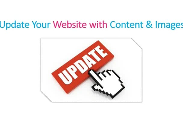 update your website with contents and Images