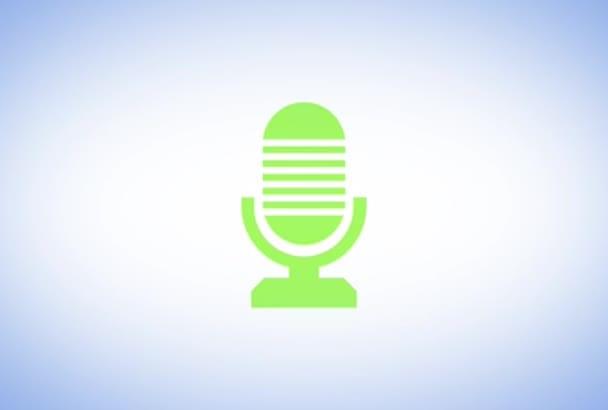record a PREMIUM british voiceover