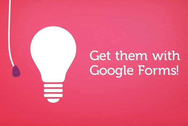 make google FORMS and questionnaires and online ordering etc
