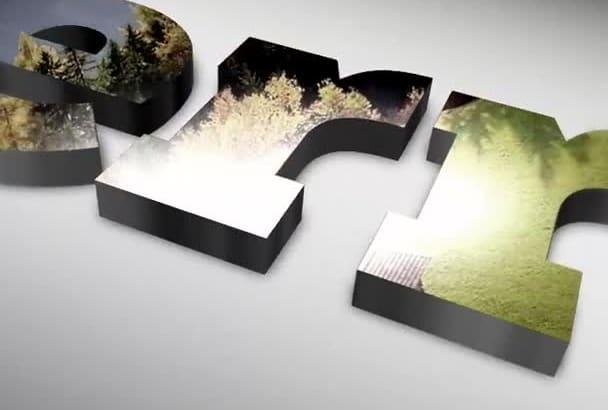 create stunning reflection 3d logo intro animation