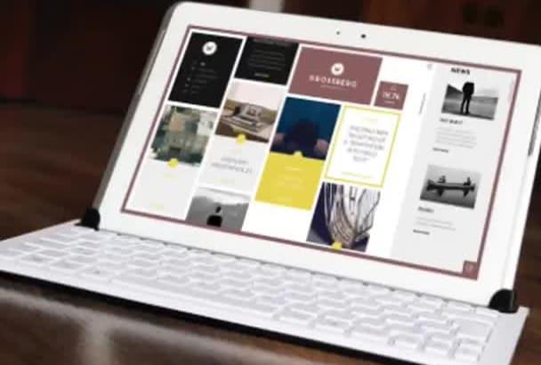 design ipad pro tablet eReader mockups for your logo or product