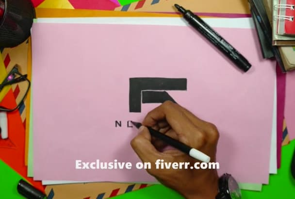 do real hand drawn video of your logo FAST