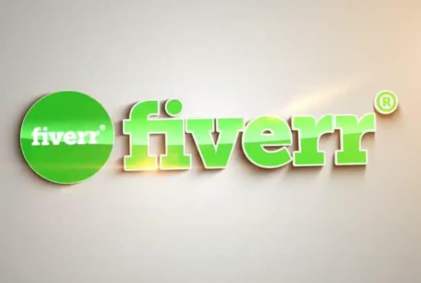 make cool clean logo intro