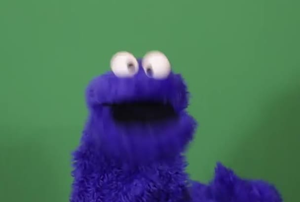 record a personal puppet message with Cookie Monster