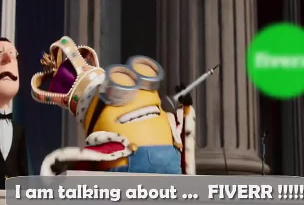 do a Minons Speech with Minions King Bob