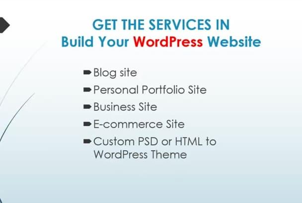 create WordPress Website or WordPress Design