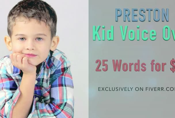 record a CHILD voice over