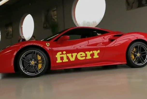 put your logo on Ferrari Sport Car