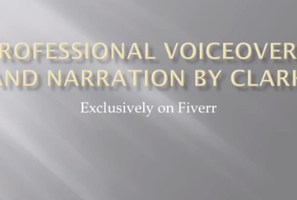 record a professional voiceover of your script