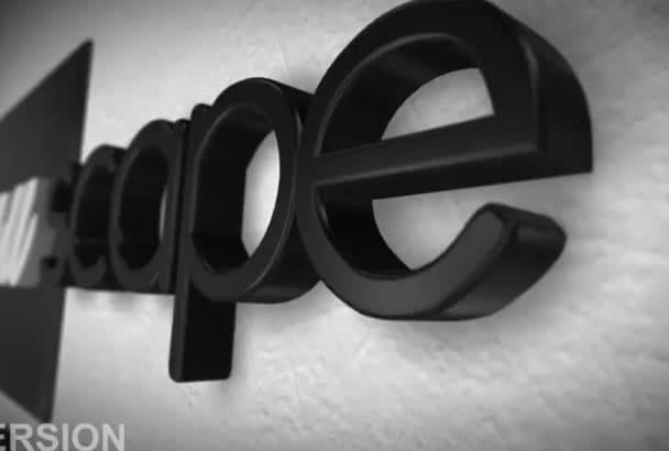 produce elegant 3d logo intro